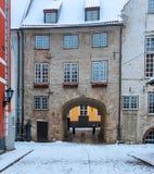 Swedish gate in old Riga, Latvia Stock Photography