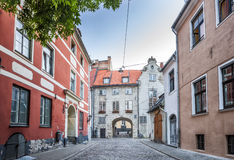 The Swedish Gate In Riga old Town Stock Image