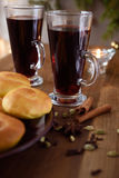 Swedish glogg and ginger buns Royalty Free Stock Photos