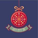 Swedish Gott Nytt Ar. Scandinavian Christmas card. Royalty Free Stock Photo