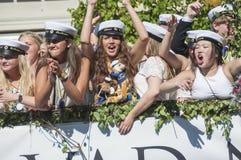 Swedish Graduation Parade Stock Image