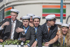 Swedish Graduation Parade Royalty Free Stock Photography