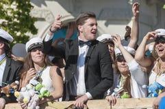 Swedish Graduation Parade Stock Photography