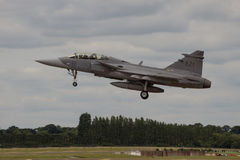 Swedish Gripen Landing at Air Tattoo Stock Images