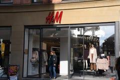 SWEDISH HENNES & MAURITZ RETAIL STORE. Copenhagen/Denmark 21.September 2018.. Swedish Hennes & mauristz retail stor in Copenhagen Denmark.. Photo.Francis Joseph stock image