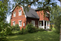Swedish house. A traditional swedish house in Varmland stock photos