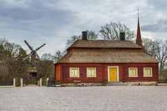 Swedish house in Scansen museum Royalty Free Stock Photos