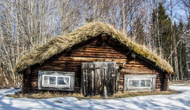 Swedish house. A Swedish house in the snow Stock Images
