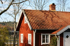 Swedish Houses Stock Images