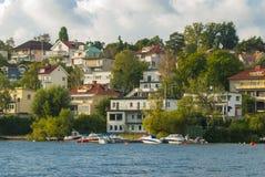 Swedish housing Bromma Royalty Free Stock Photo