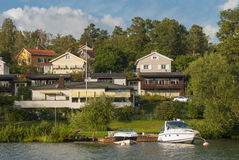 Swedish housing Bromma Royalty Free Stock Photo