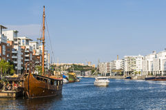 Swedish housing Hammarby Sjostad Stockholm Royalty Free Stock Photos