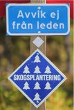 Swedish Information Signs Stock Photo