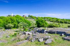 Swedish island in panorama landscape Stock Photos