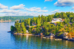 Swedish island villages Royalty Free Stock Images