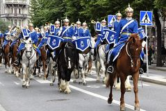 Swedish King's Guard Stock Photography