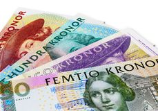 Swedish krona banknotes Royalty Free Stock Image