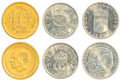 Swedish krona coins collection set Royalty Free Stock Photo