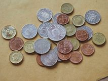 Swedish Krona coins, Sweden. Swedish Krona coins money SEK, currency of Sweden Royalty Free Stock Photos