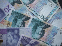 Swedish Krona and Norwegian Krone notes Royalty Free Stock Photos