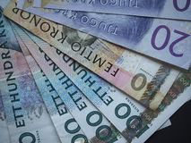 Swedish Krona and Norwegian Krone notes Royalty Free Stock Image