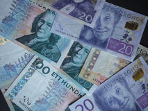 Swedish Krona and Norwegian Krone notes Stock Image