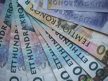 Swedish Krona and Norwegian Krone notes. Swedish Krona SEK, currency of Sweden and Norwegian Krone NOK notes Stock Images