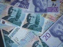 Swedish Krona and Norwegian Krone notes. Swedish Krona SEK, currency of Sweden and Norwegian Krone NOK notes Stock Photos
