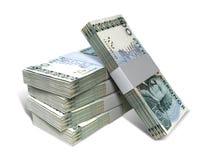 Swedish Krona Notes Bundles Stack. A stack of bundled Swedish Krona banknotes on an isolated background Stock Images