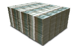 Swedish Krona Notes Pile Stock Photos