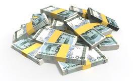 Swedish Krona Notes Scattered Pile Stock Image