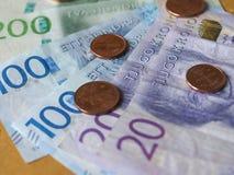 Swedish Krona notes, Sweden. Swedish Krona banknotes money SEK, currency of Sweden Stock Photos