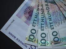 Swedish Krona and Norwegian Krone notes Stock Images