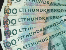 100 Swedish Krona (SEK) notes, currency of Sweden (SE) Royalty Free Stock Photos