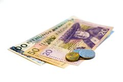 =Swedish Kroner (SEK) on White Stock Photography