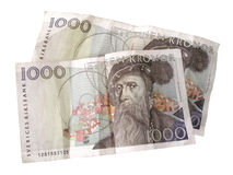Swedish Kronor royalty free stock photo