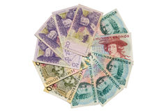 Swedish kronor banknotes Royalty Free Stock Photography