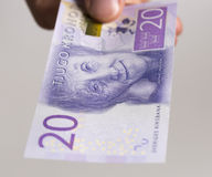 Swedish 20 Kronor Note Royalty Free Stock Images