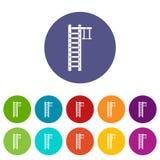 Swedish ladder set icons Stock Image