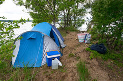Swedish lake camp Stock Image