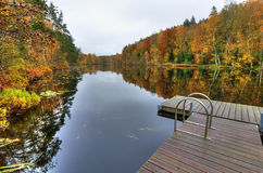 Swedish lake in October Royalty Free Stock Photography