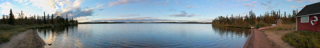 Swedish Lake Panorama Royalty Free Stock Images