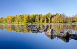 Swedish lake reflections Royalty Free Stock Images