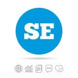 Swedish language sign icon. SE translation. Royalty Free Stock Photo