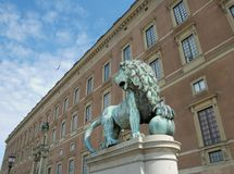 Swedish lion. Stock Photo