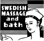 Swedish Massage And Bath royalty free illustration