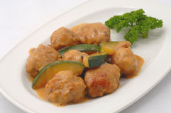 Swedish meatballs Royalty Free Stock Images