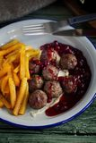 Swedish meatballs. Close up. Healthy food stock photo