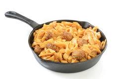 Swedish meatballs on pasta Stock Image