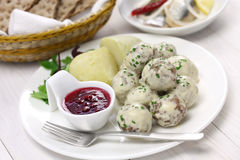 Swedish meatballs, svenska kottbullar Stock Photography